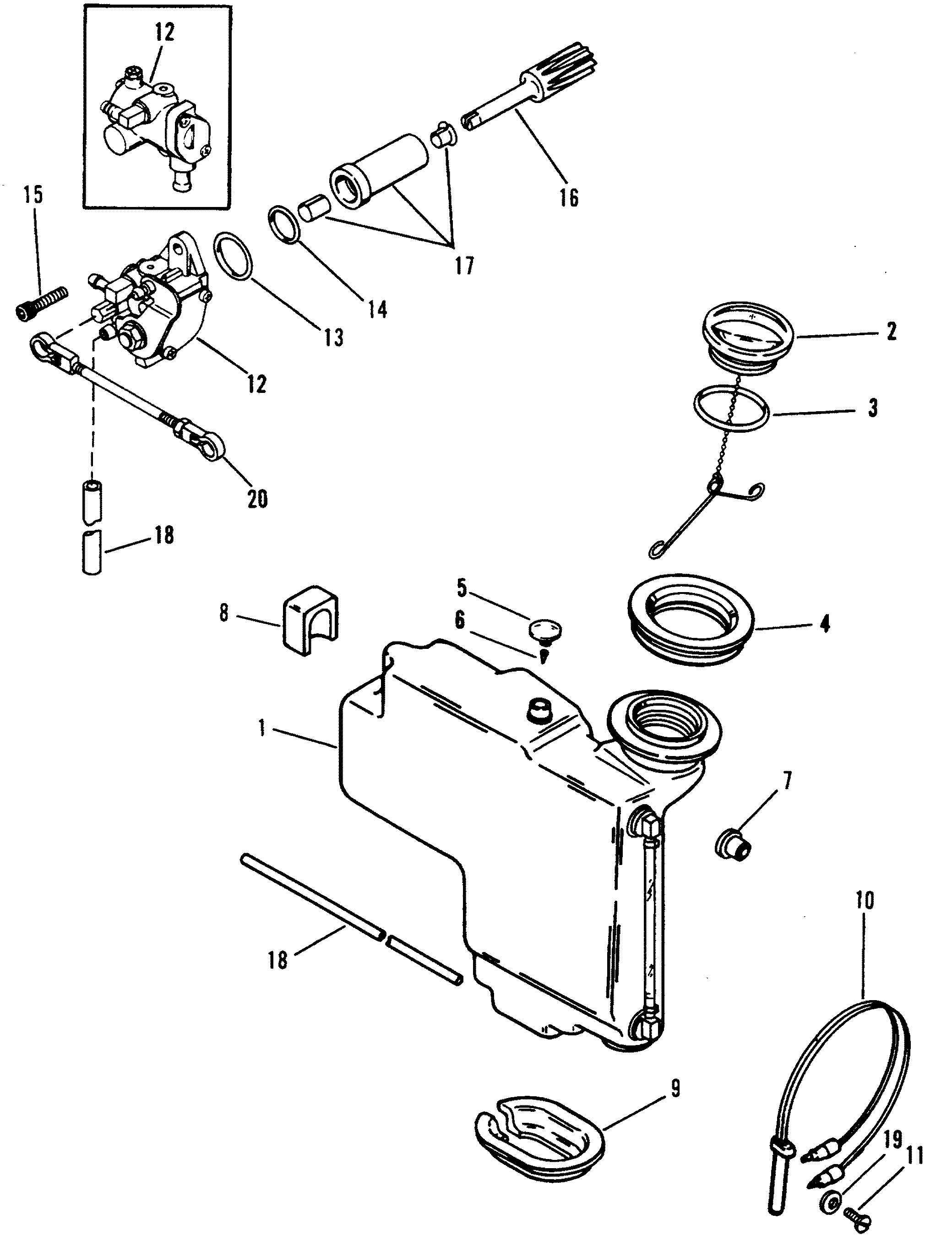 Oil Injection Components Mercury Outboard Motor Parts