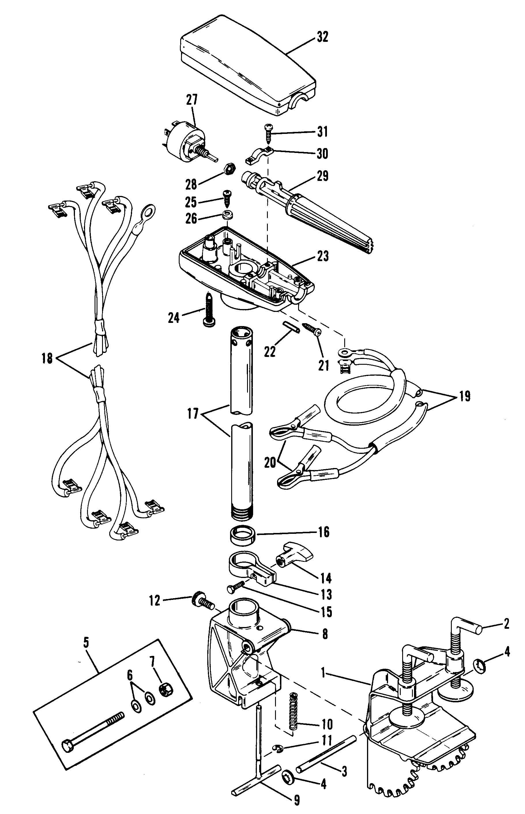 Mercury Trolling Motor Thruster Ii 6300953 And Up
