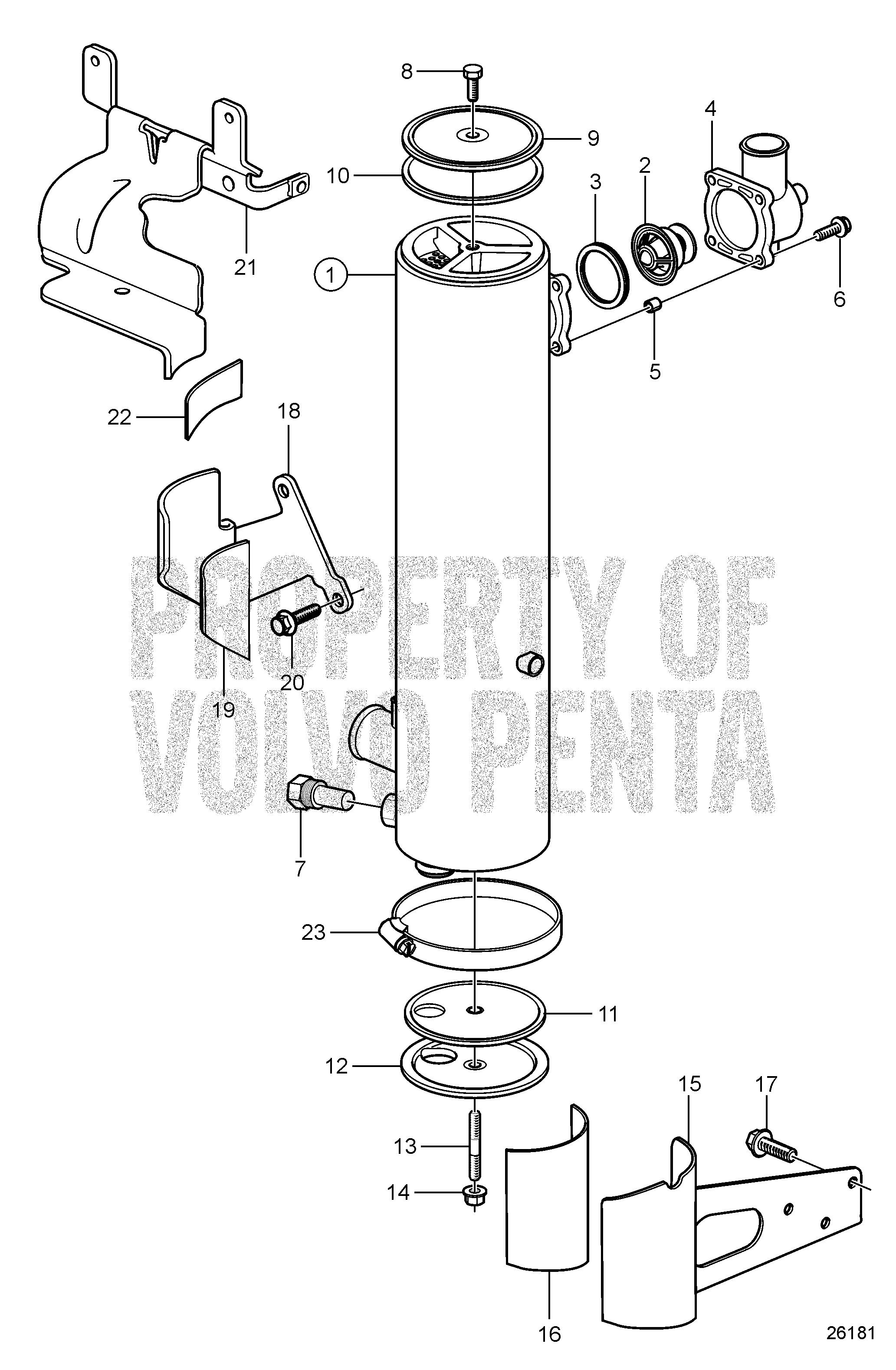 Volvo Marine Gasoline Engines V8 380 C A B Heat Draw Diagram Of Engine Ref Description Qty Required Price 1 Exchanger
