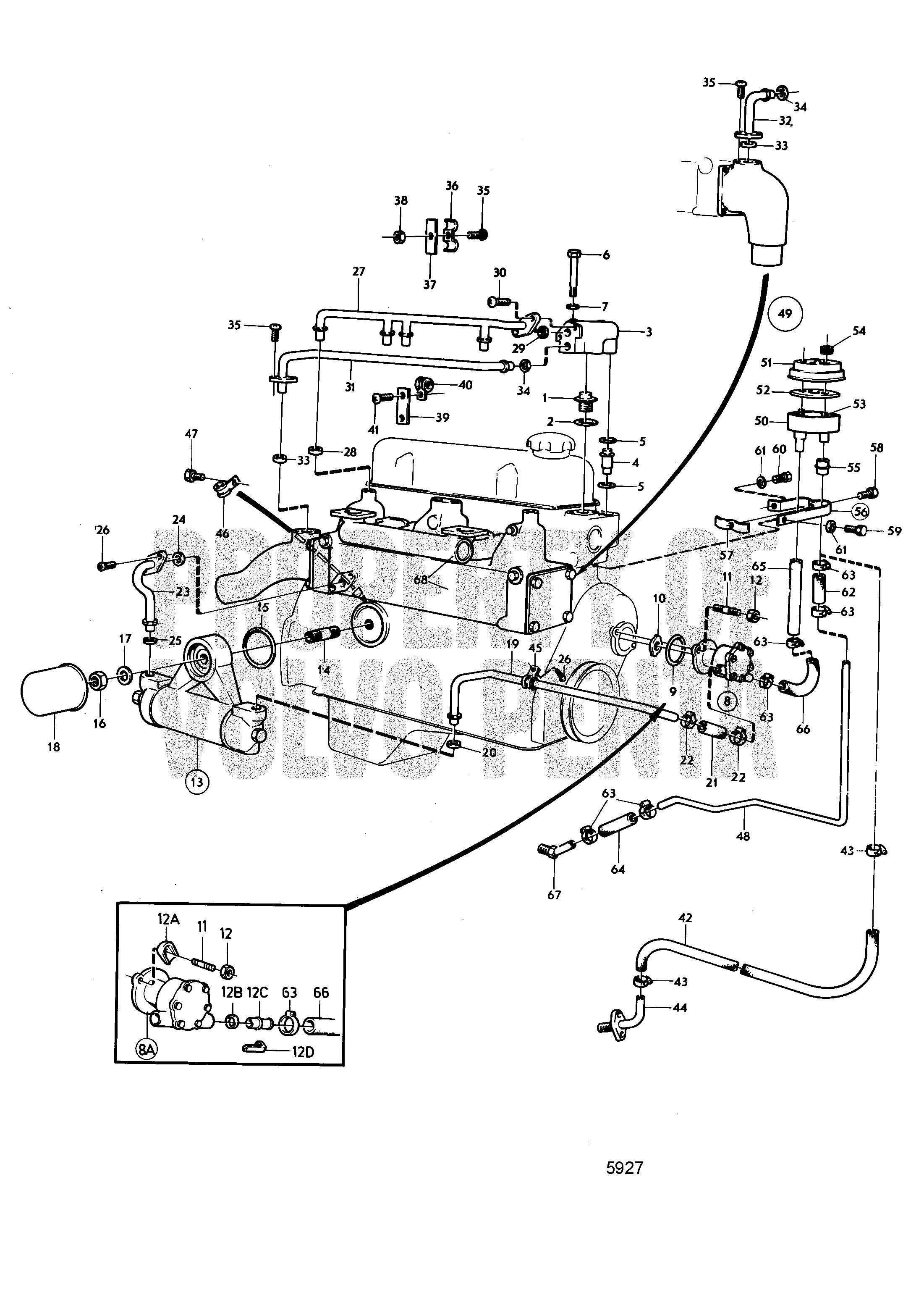volvo marine gasoline engines aq115a aq115b aq130 aq130a rh vansoutboardparts com Kohler 17.5 HP Engine Manual Tecumseh Engine Manual