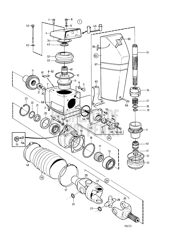 Volvo | Marine Gasoline Engines | 251A | Upper Gear Unit
