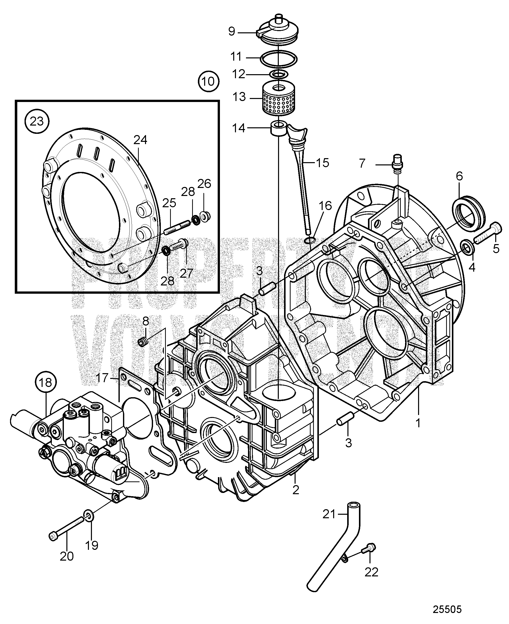 motor parts part transmissions c drives reverse marine b outboard gear no d a volvo