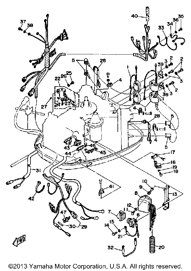 Diagram Of 1986 Mercury Marine Mercury Outboard 1300626 Wiring