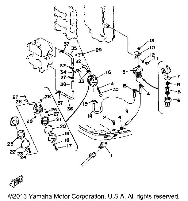 Yamaha 115 Fuel System