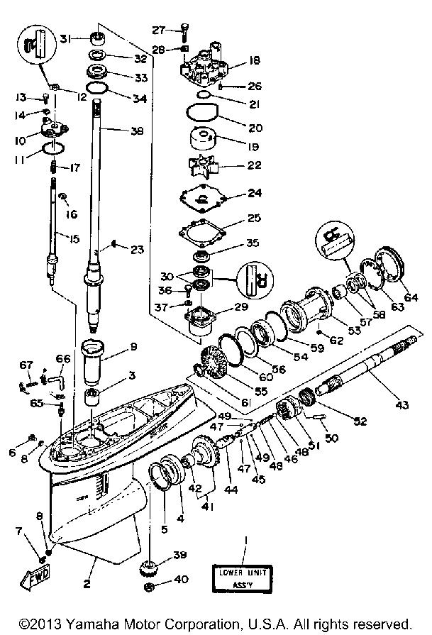 Yamaha Outboard Lower Unit Diagram