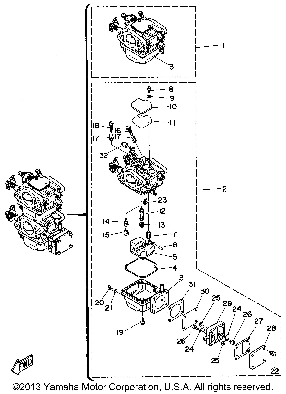 Yamaha | OUTBOARD | 20 HP | 20MLHU | CARBURETOR - Yamaha Outboard