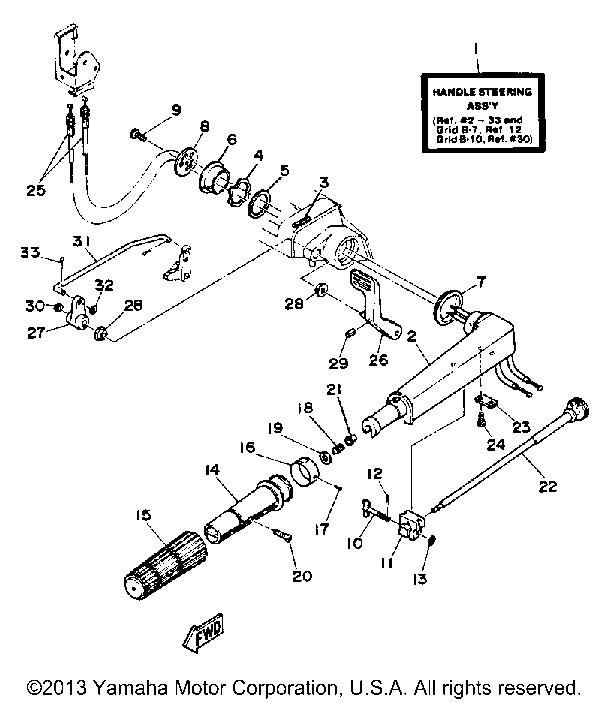 Yamaha Outboard 30 Hp 30elg Steering