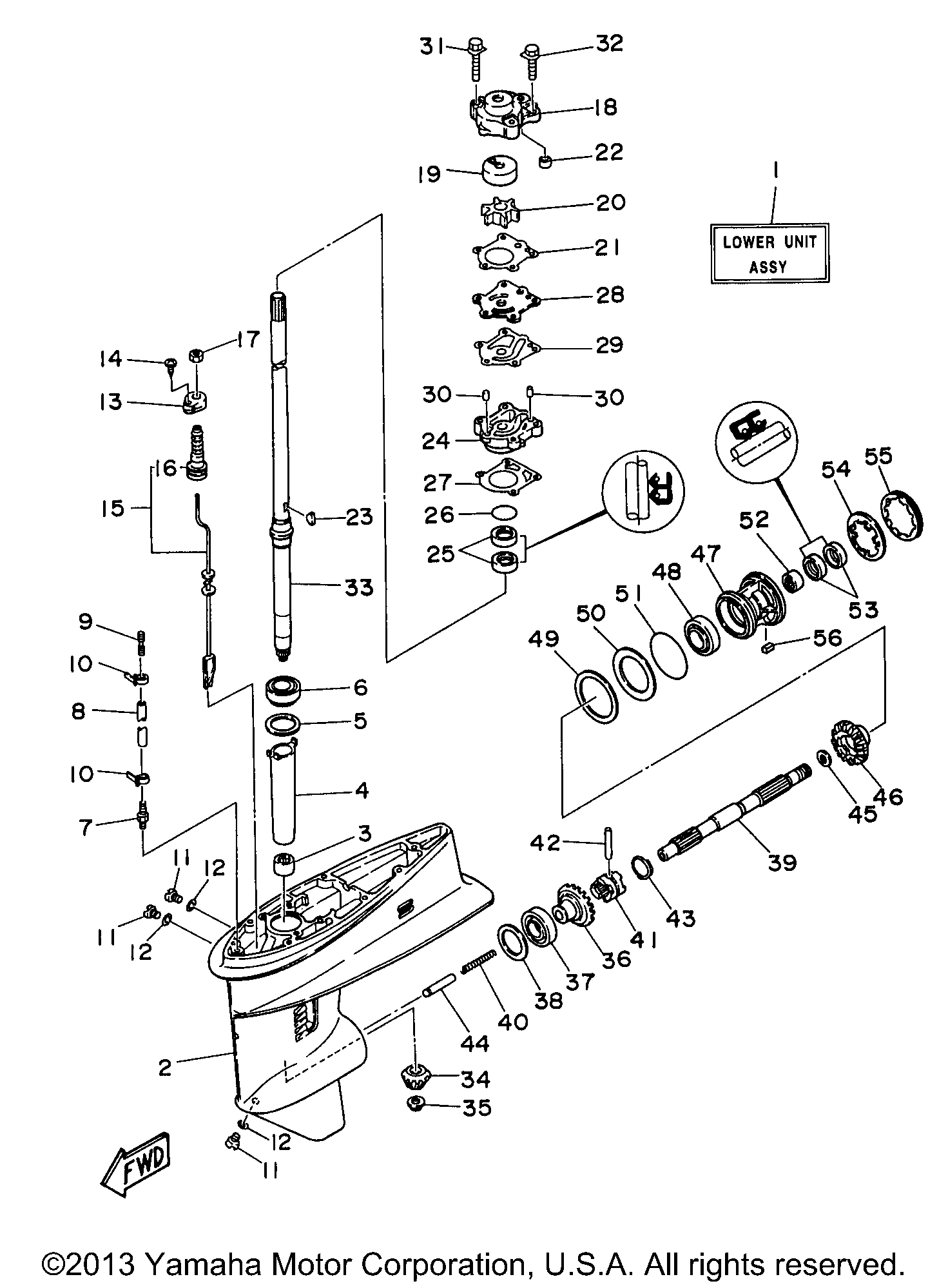 Yamaha 6j8 Wiring Diagram Reveolution Of 30 Hp Outboard 30esrw Lower Casing Drive 1 Rh Vansoutboardparts Com 90