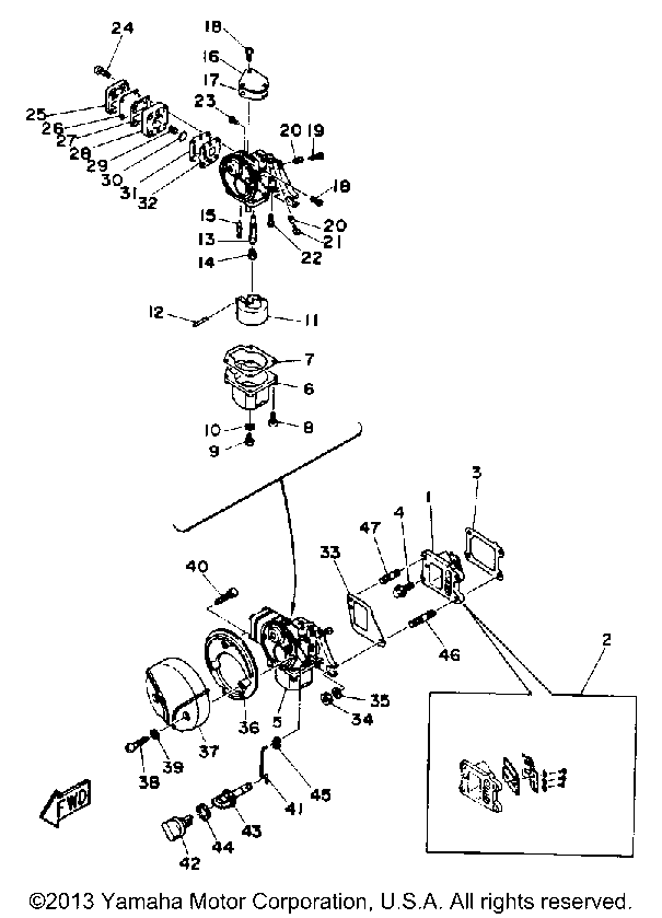 yamaha outboard carburetor diagram