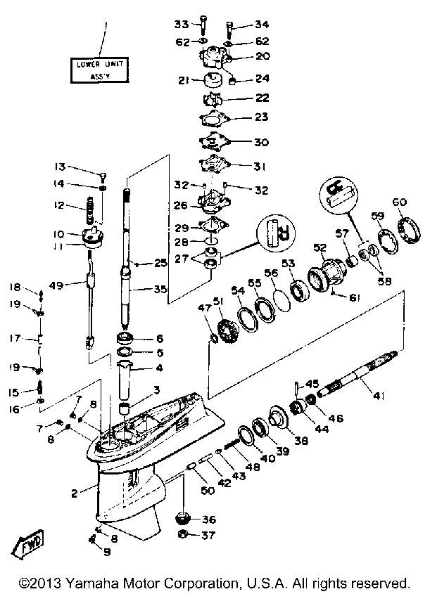Yamaha Outboard Lower Unit Diagram