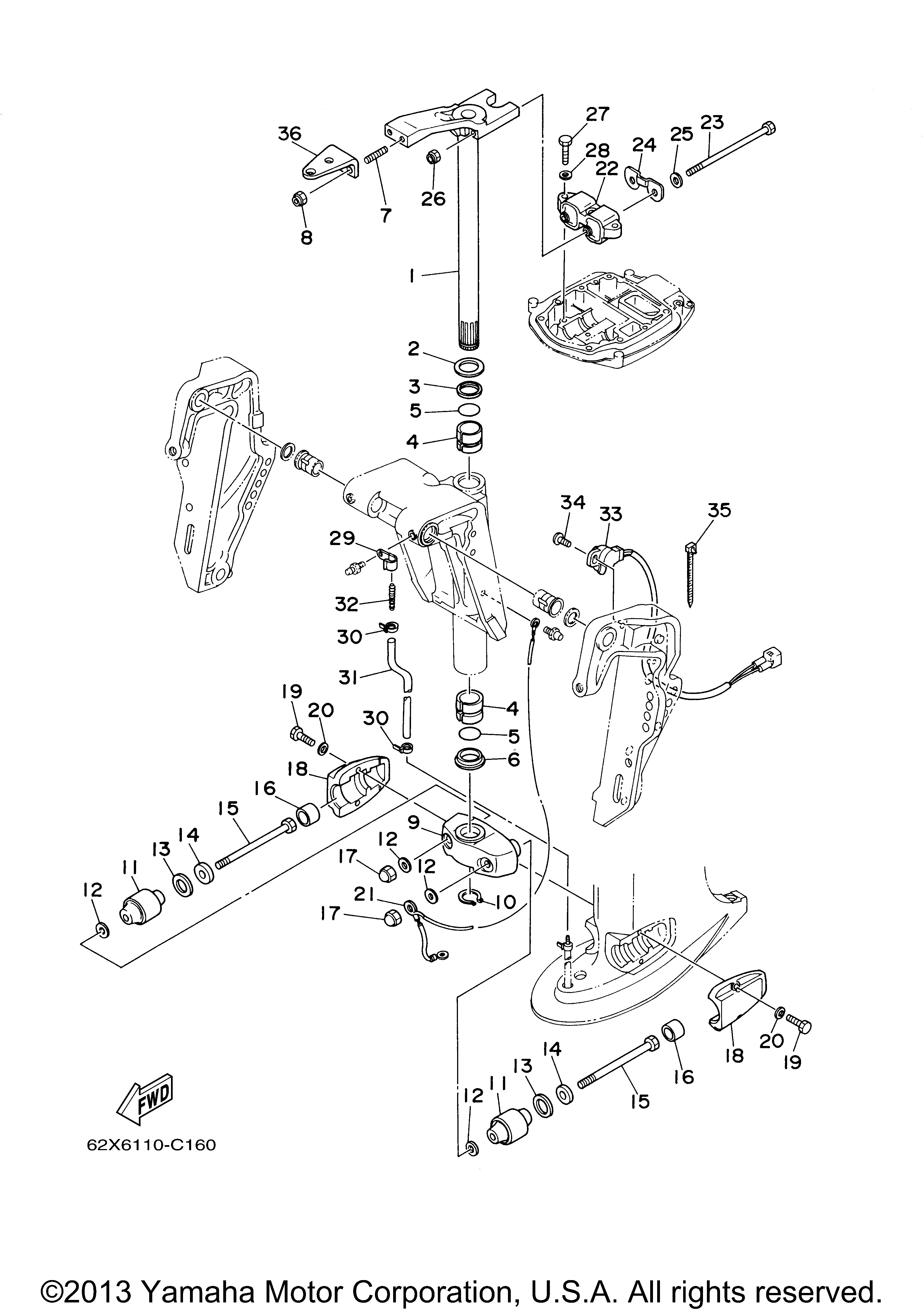 Yamaha 50tlr Wiring Diagram Archive Of Automotive Outboard Motors Diagrams Images Gallery 0406 Bracket 2 Motor Rh Vansoutboardparts Com