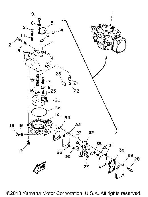 Outboard Carburetor Diagram
