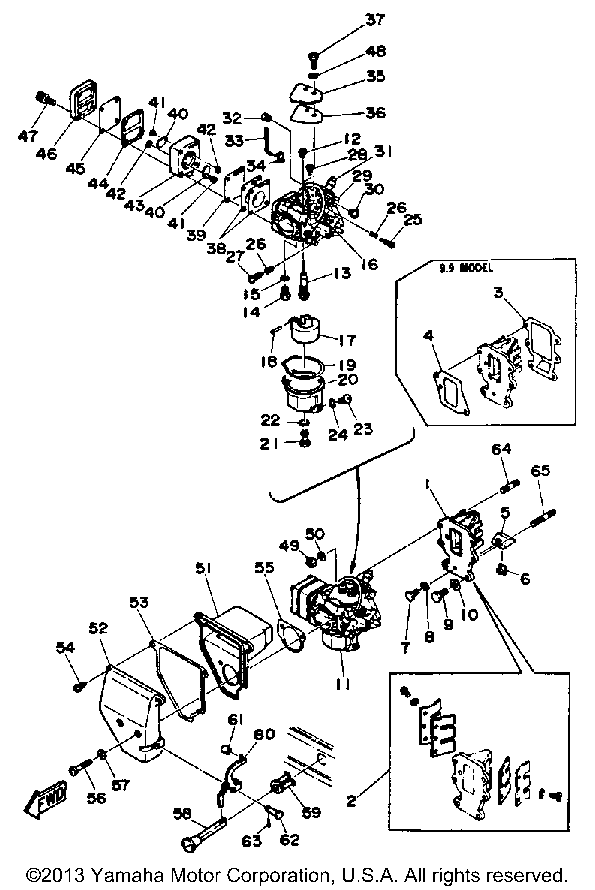 Yamaha Intake Carburetor