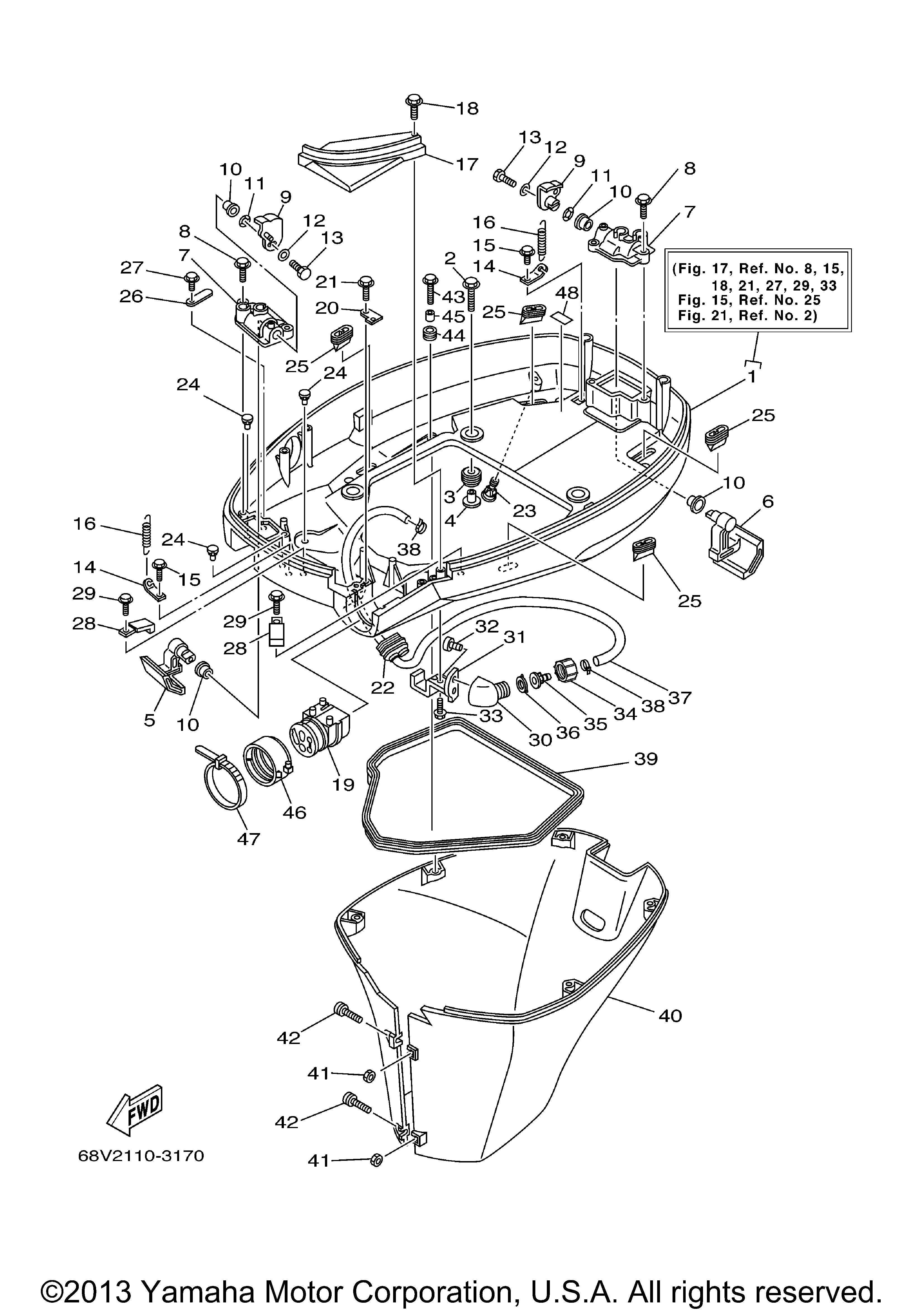 Yamaha 115 Hp Outboard Motors Parts Wiring Diagram F115txrb Bottom Cowling Rh Vansoutboardparts Com Johnson