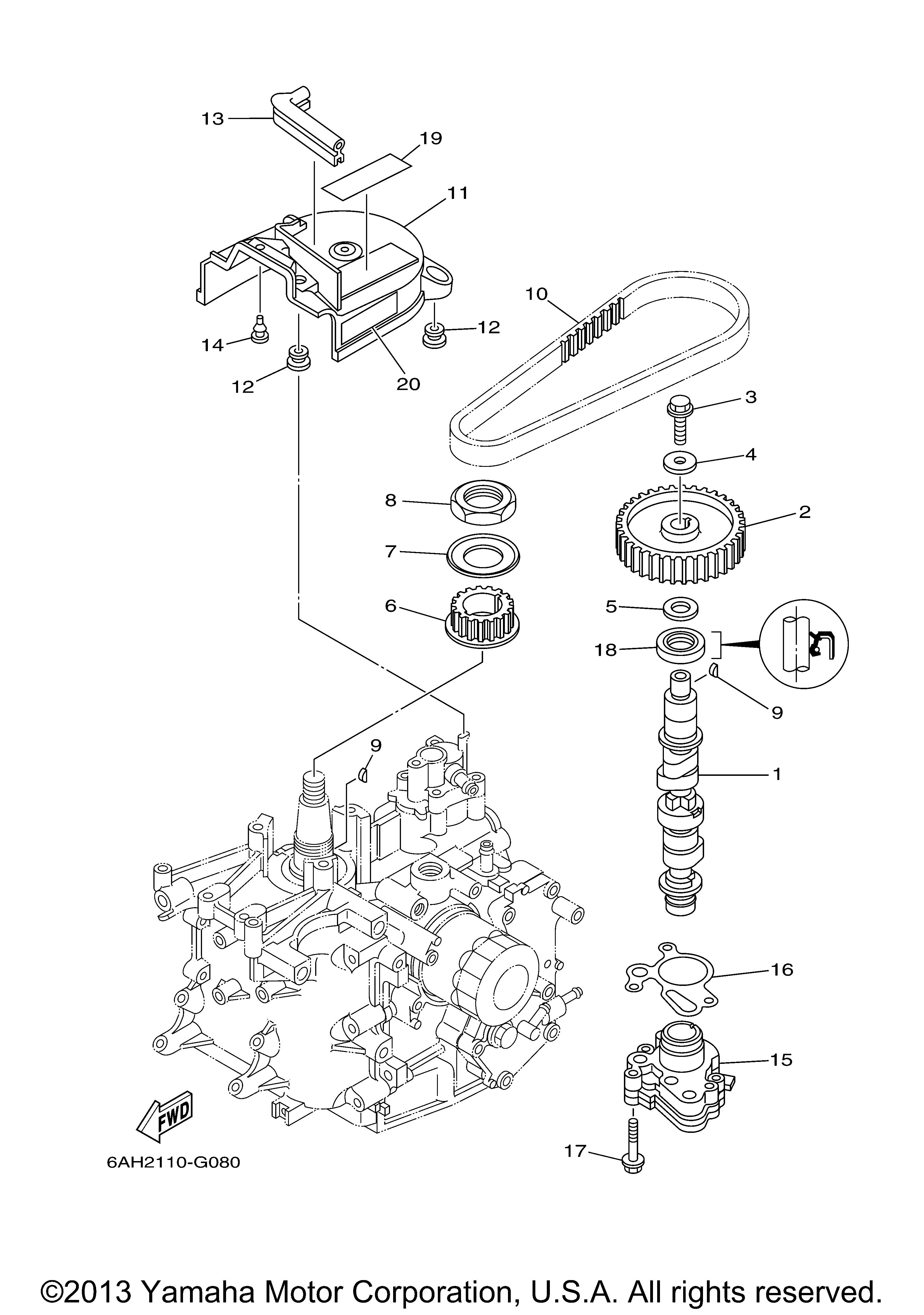 Yamaha | OUTBOARD | 20 HP | F20ELR | OIL PUMP - Yamaha Outboard