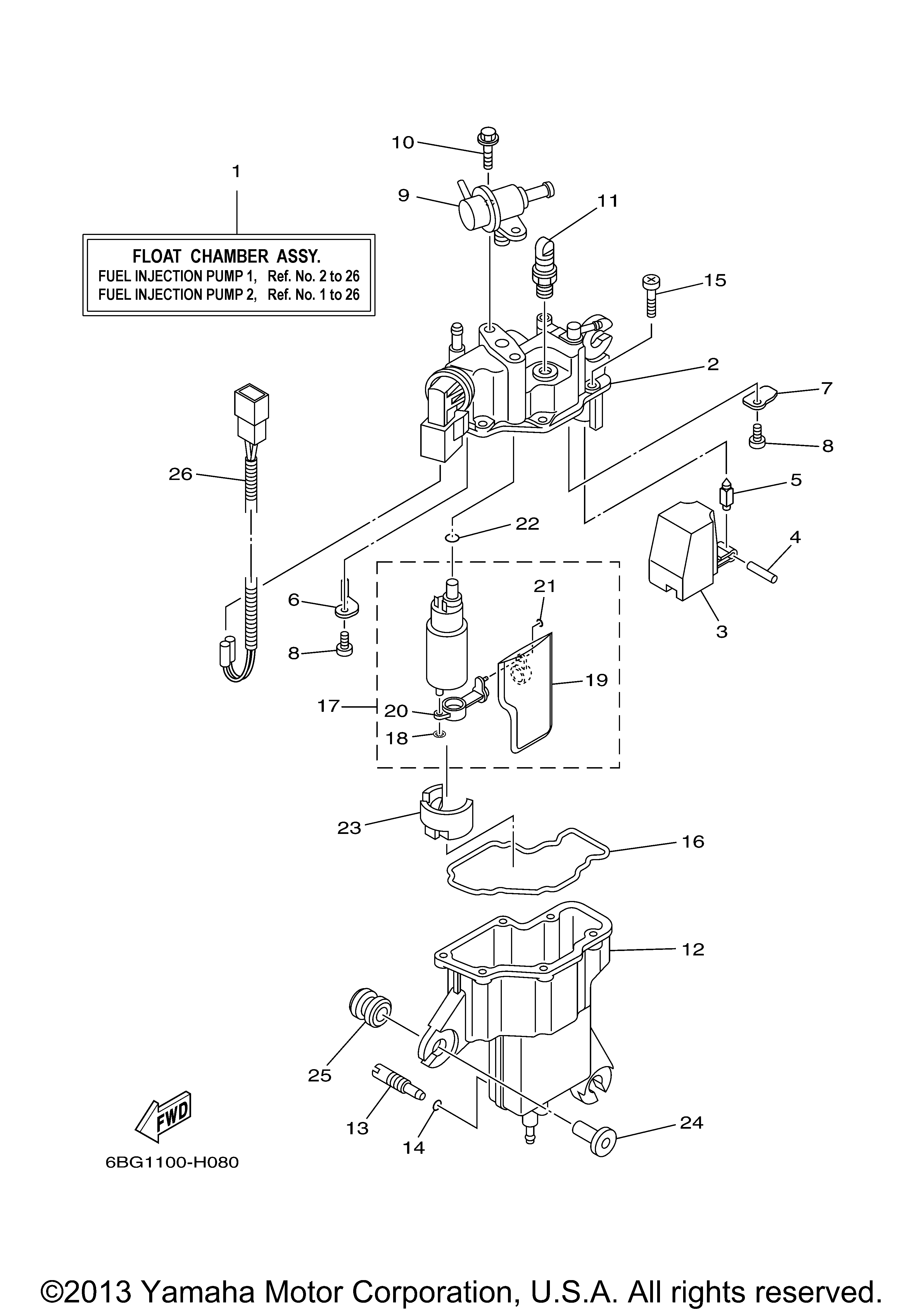 Yamaha Outboard Fuel Diagram Trusted Wiring Diagrams Gauges Wire 40 Hp F40la 0112 Injection Pump 1 Gauge