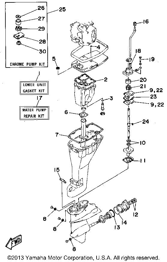 Yamaha Outboard F9 9mhu Repair Kit 2