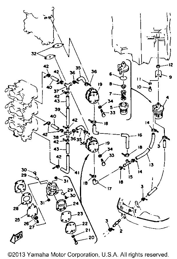 Yamaha Outboard Fuel Pump Diagram