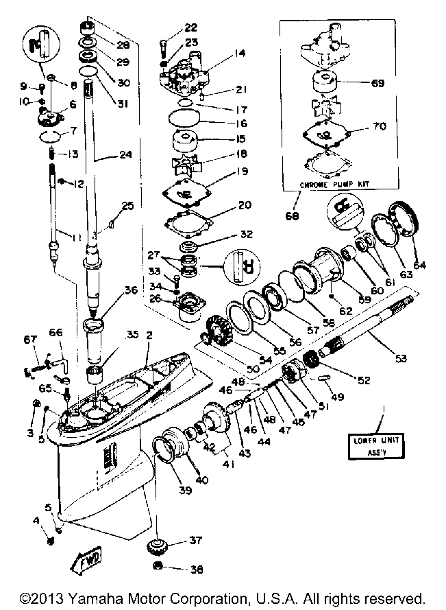 Yamaha 150 Lower Unit Diagram