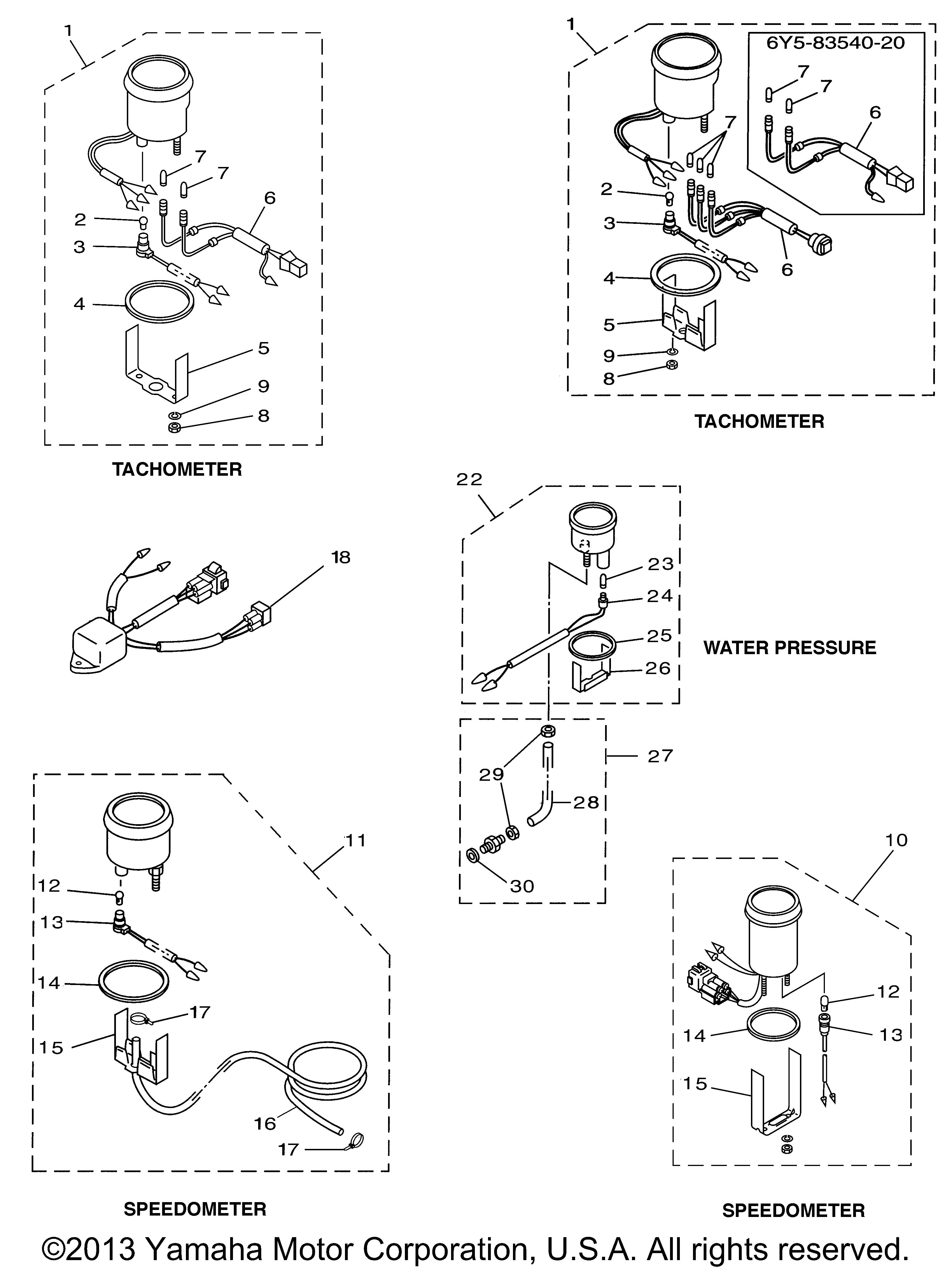 yamaha outboard speedometer tube