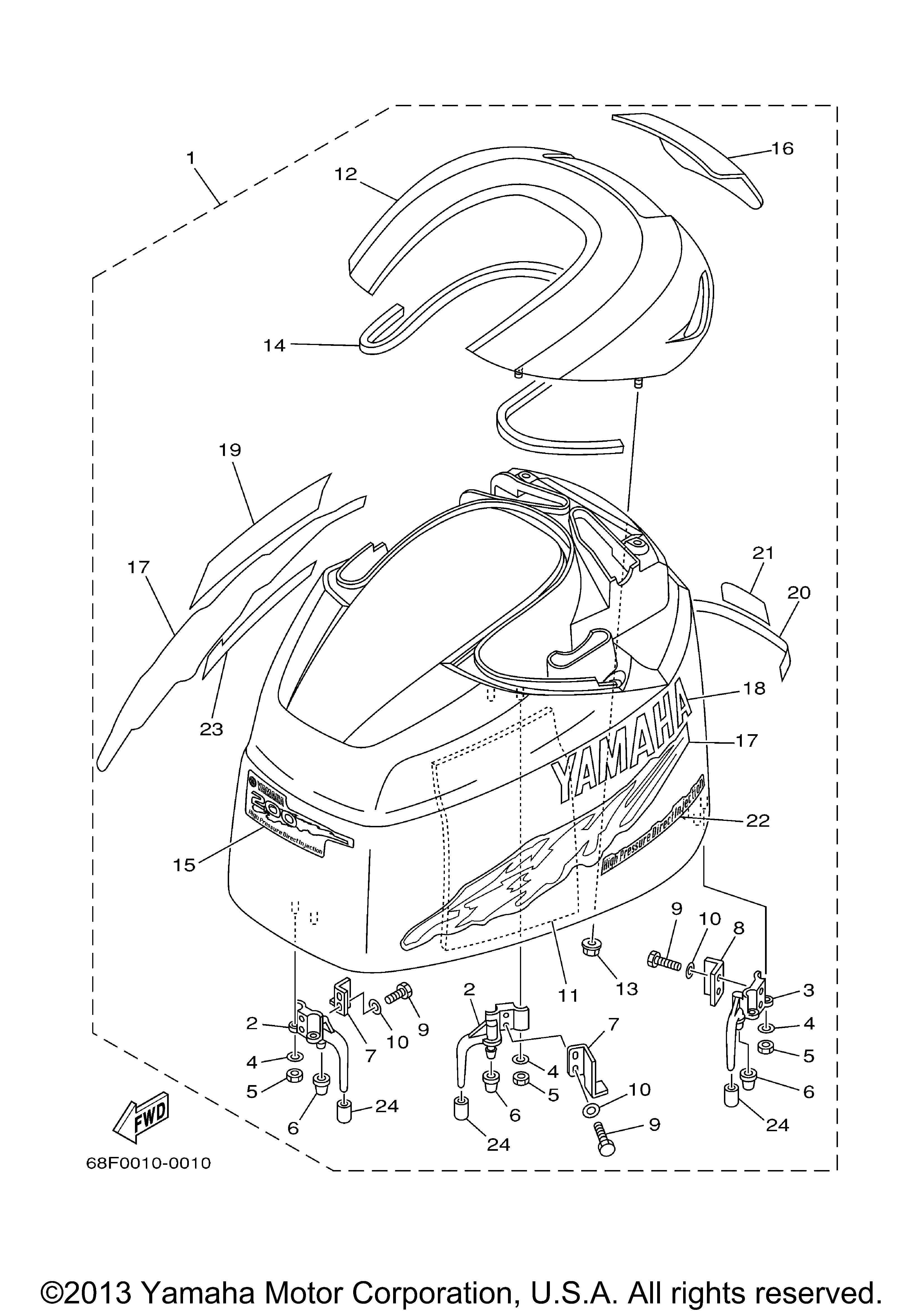 yamaha outboard motor parts usa