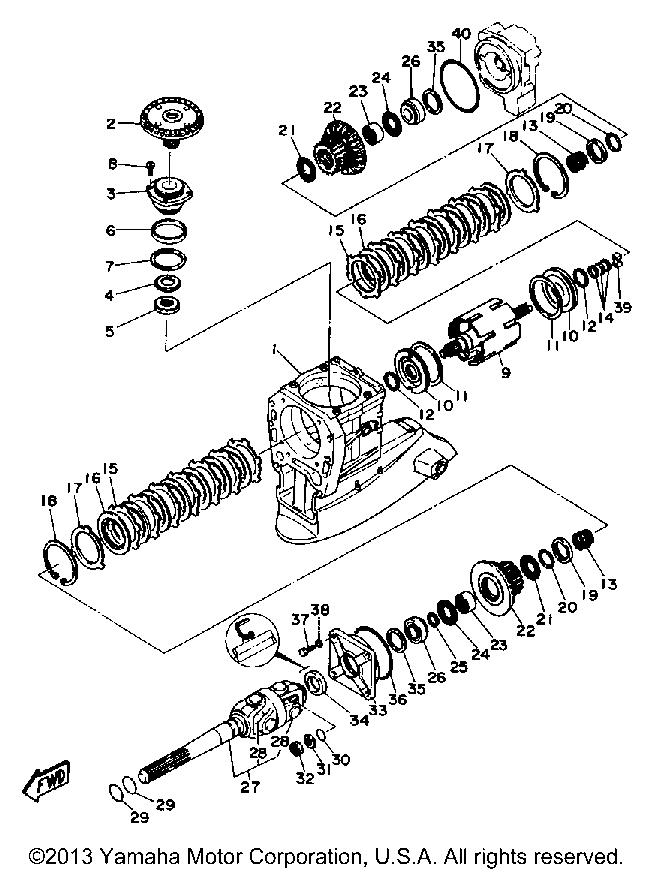 Yamaha Sterndrive Inter Drive V8 7 4 Upper Drive 1